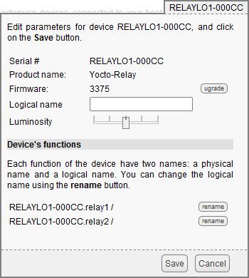 Yocto-Relay : User's guide