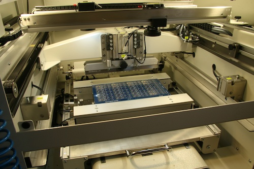 The stencil printing machine