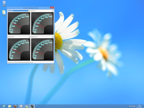 Une 'Desktop Application' sous Windows 8, qui n'est pas sans rappeler Windows 7...