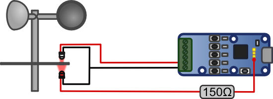 Wiring between the  Yocto-Knob and the sensor