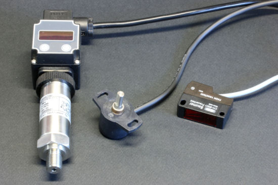 A pressure sensor, a angle sensor, and a distance sensor, all in  4-20mA
