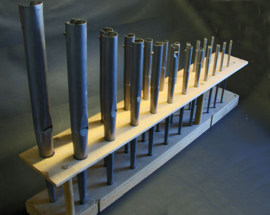 A set of 22 organ pipes