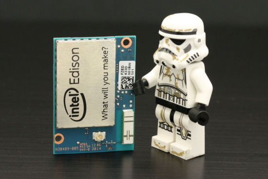 The Intel Edison, we told you it was tiny...