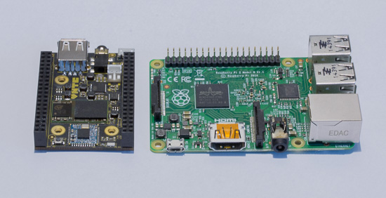 C.H.I.P is smaller than an Raspberry PI