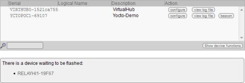 "Modules in ""firmware update"" mode show up in the VirtualHub"