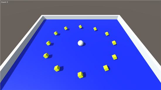 The Roll-a-Ball tutorial provided by Unity