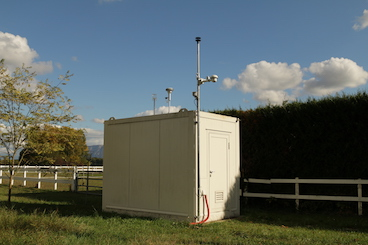 An air quality monitoring station