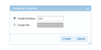 Creating the data directory