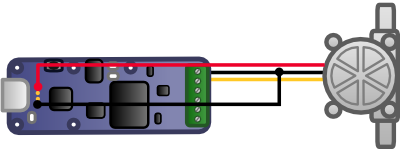 Connection du débitmètre au Yocto-PWM-Rx