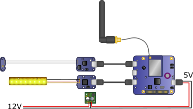 Diagram of the light beacon