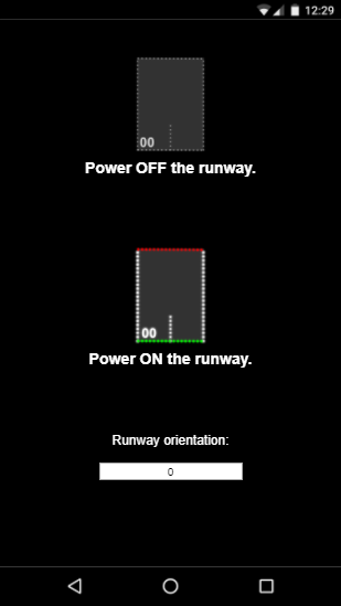 The web page that allows you to drive the landing runway