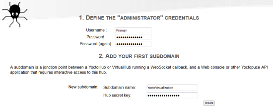 Create a login and a new sub-domain