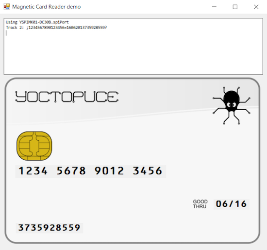 Demo of credit/debit card track 2 decoding