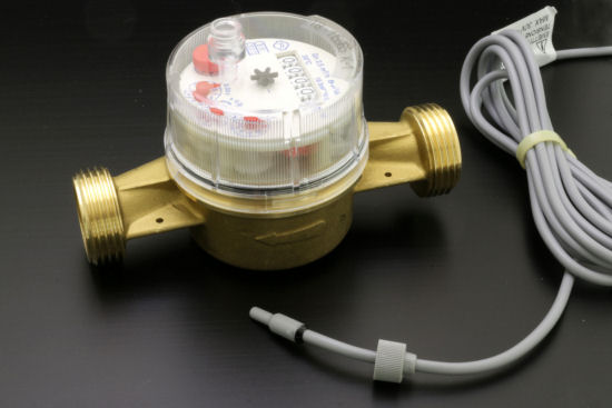 A pulse water meter and the reed switch sold with it