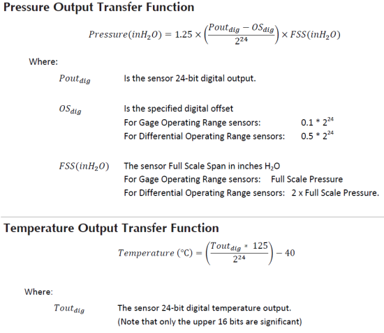 transfert fonction (extract  from DLHR's datasheet)