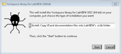 The installer for the LabVIEW library