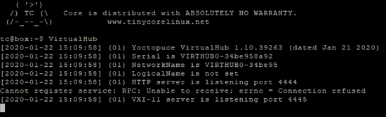 When the package is installed, the VirtualHub is available