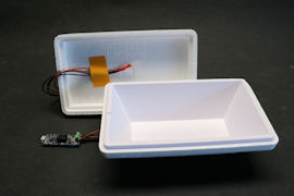 Insulating box with only a Pt100 probe