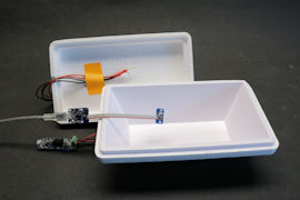 Box with a Yocto-Meteo-V2 and a Pt100 probe