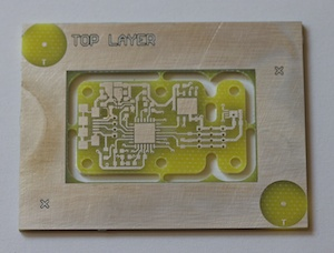Milled and tinned circuit board