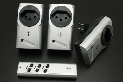 A set of radio-controlled sockets bought in a supermarket
