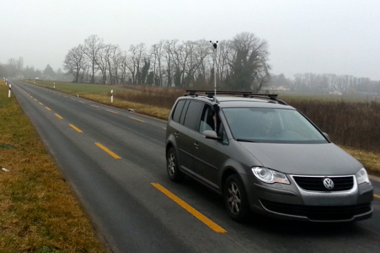 Calibration can be estimated with an empty road and a car :-)