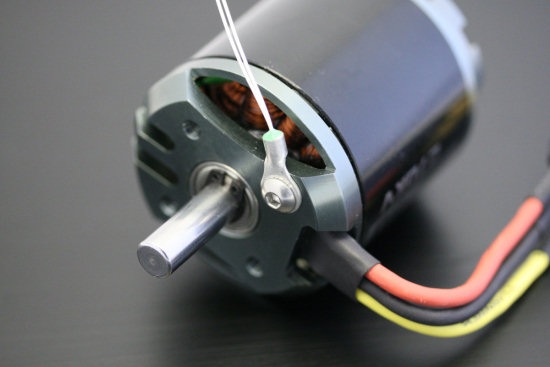 A thermistor can be used to measure the temperature on a specific point
