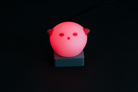 The SPÖKA night light, modified by Yoctopuce
