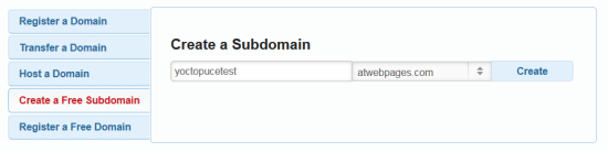 Creating the subdomain
