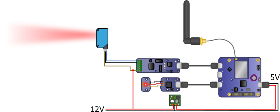 Diagram of the light barrier