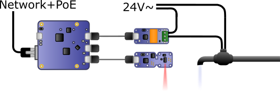 Diagram of the electronic regulation system