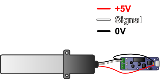 Connection diagram to draw 5V from the USB bus