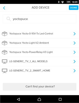 Adding Yoctopuce modules (we don't know why the LG TVs appear as well)