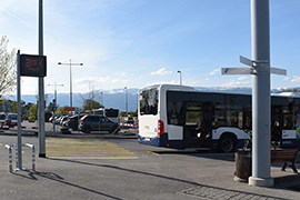 View of a bus stop