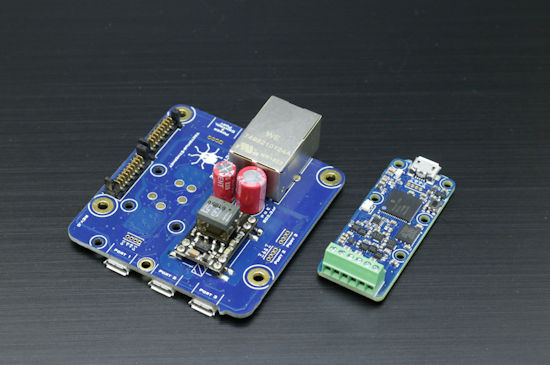 A YoctoHub-Ethernet and a Yocto-I2C